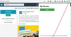 Δημιουργήστε μια νέα παράμετρο στον URL Parametor