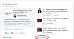 """all activity"" στο Linkedin"